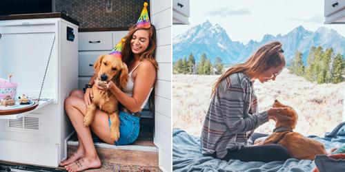 一车一狗一世界!美国女孩改造房车追寻最美风景