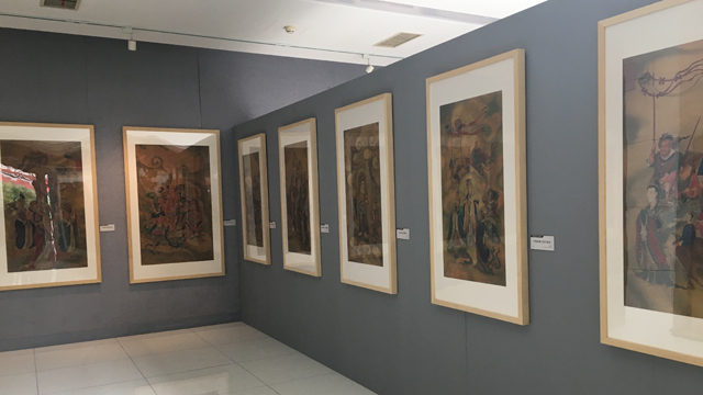 澳门葡京真人鲁迅博物馆举办中国水陆画作品展