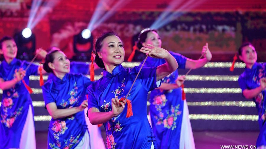 Square dance performance held in Beijing