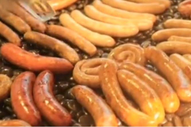 五种口味一米长的大香肠