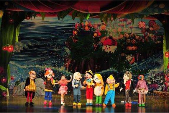 沉浸在童話故事世界,讓孩子們歡樂的演出