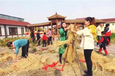 寶坻區舉行第三屆稻草人節
