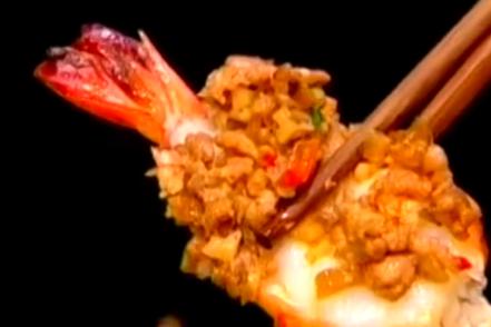 铁板香汁虾,味美食鲜
