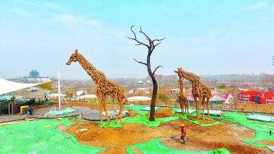 最大浮木动物雕塑入驻世园会植物馆