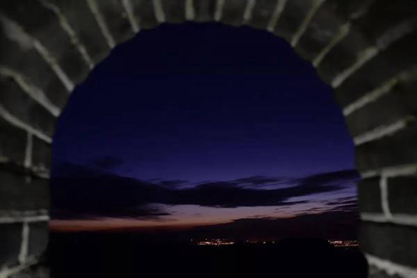 今年中秋来慕田峪长城看月亮