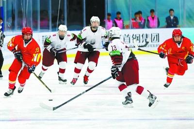 女子冰球世界锦标赛在京揭幕
