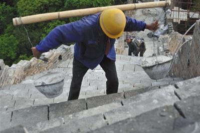 箭扣长城最险段启动修缮 预计明年6月竣工