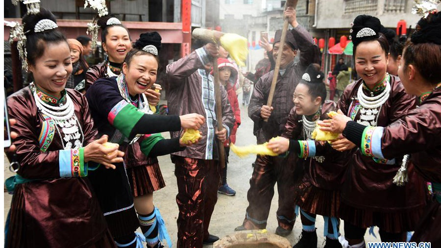 Dong people celebrate new year in China