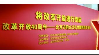 改革开放40周年澳门葡京赌场市群众文化发展创新成果展举办