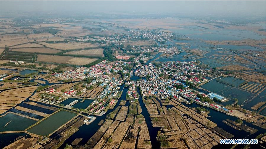 Restoration work starts in Baiyangdian Lake of Xiongan New Area