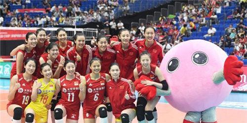 女排世界杯:中国队3-0胜多米尼加队