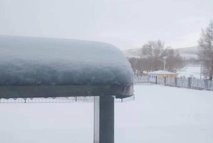 张家口坝上喜降瑞雪