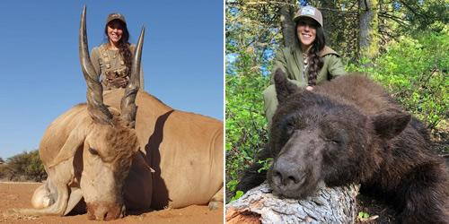 美国护士热衷狩猎晒与动物合影 引网友不满